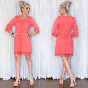 Petite Alfani Pink Lace Long Sleeve Dress